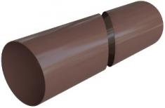Труба водосточная ПВХ 4 м, Элит (цвет коричневый)